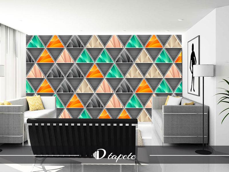 3D tapete apstraktne za zid stampa 3d tapeta