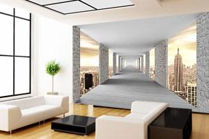 3d tapete tunel hodnik new york za zid
