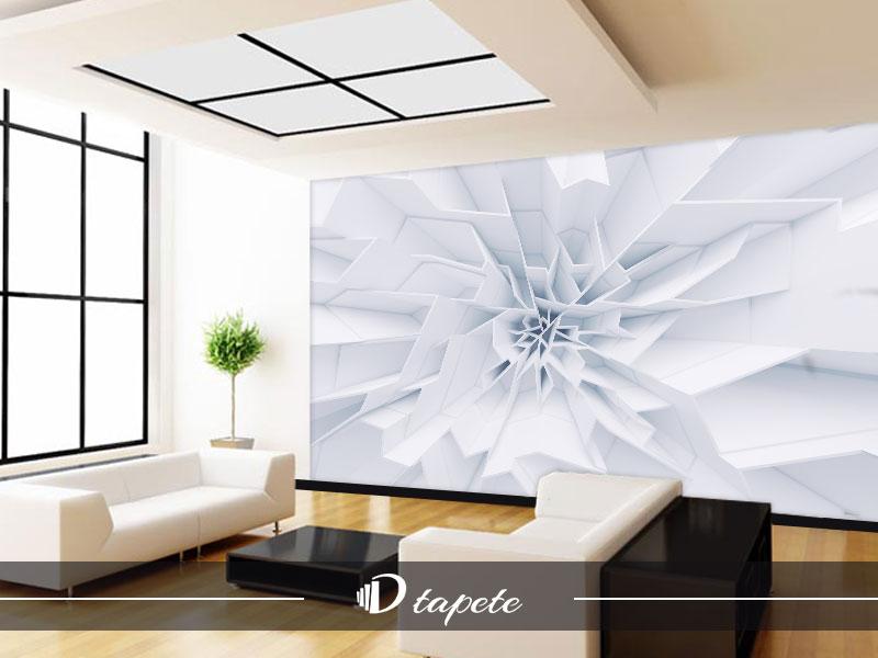 3d tapete apstraktne bele latice
