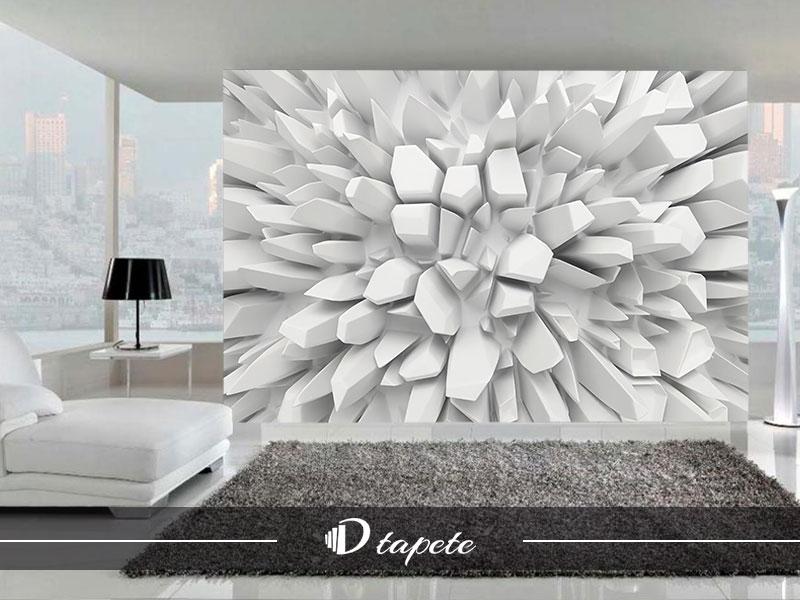 3d tapete apstraktne beli gleceri