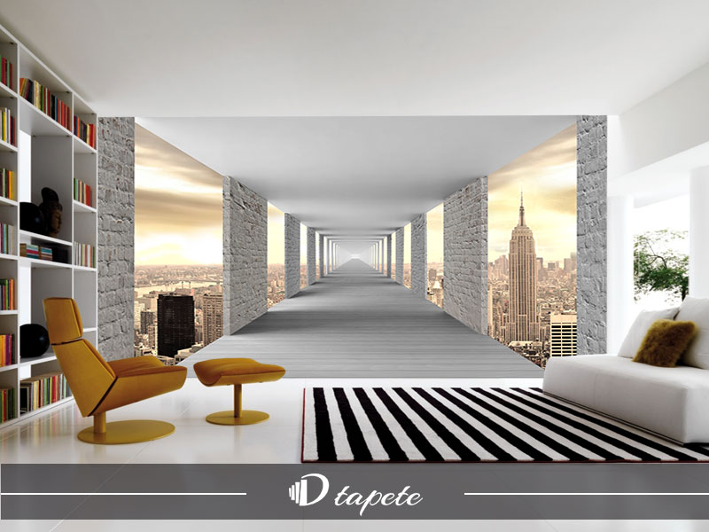 3d tapete tunel new york stampa 3d tapeta