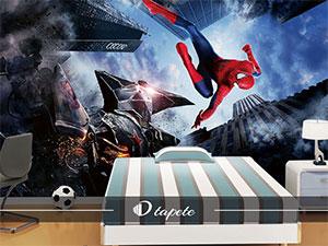 tapete-spajdermen za deciju sobu spiderman u skoku
