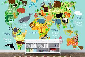 tapete za deciju sobu karte sveta stampa tapeta za deciju sobu karte sveta