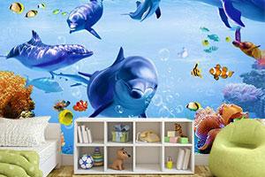 tapete za deciju sobu podvodni svet morski svet