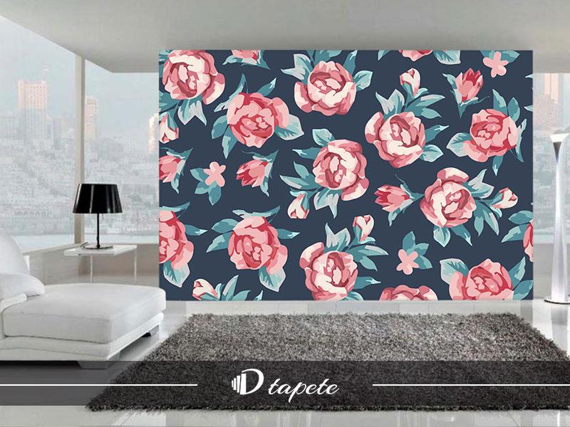 cvetne tapete, izrada cvetnih tapeta, štampa tapete cvetni dezeni