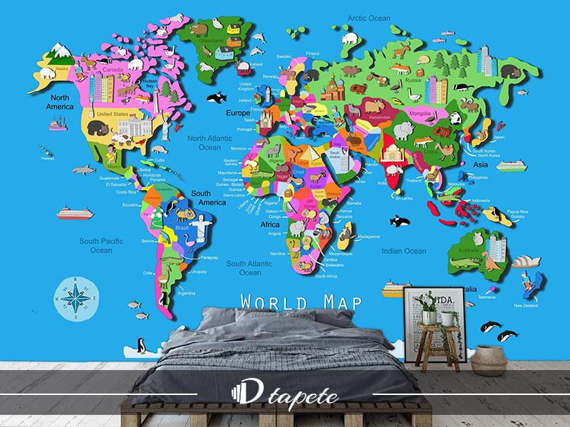 Karta Sveta Za Decu 6 Izrada Tapeta 3d Tapete Tampa Foto Tapeta
