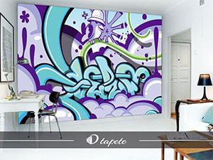 tapete grafiti, izrada tapte grafiti, štampa foto tapete grafiti za zid