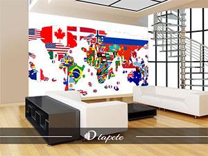 Tapete Karta Sveta Mapa Sveta 3d Tapete