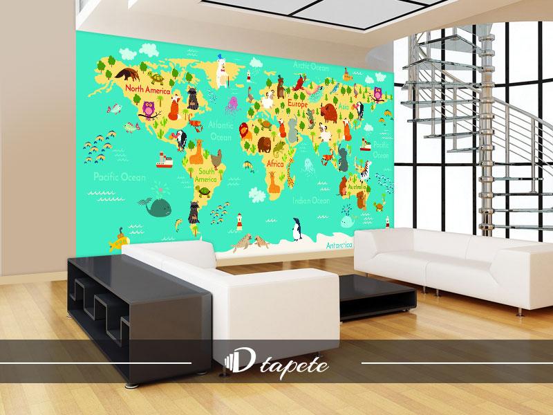 karta sveta decija karta sveta