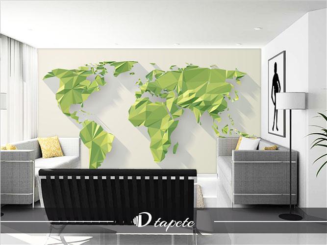 Tapetet mapa sveta karta sveta zelena