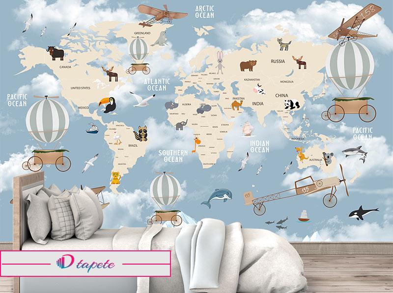 decije-tapete-karte-sveta